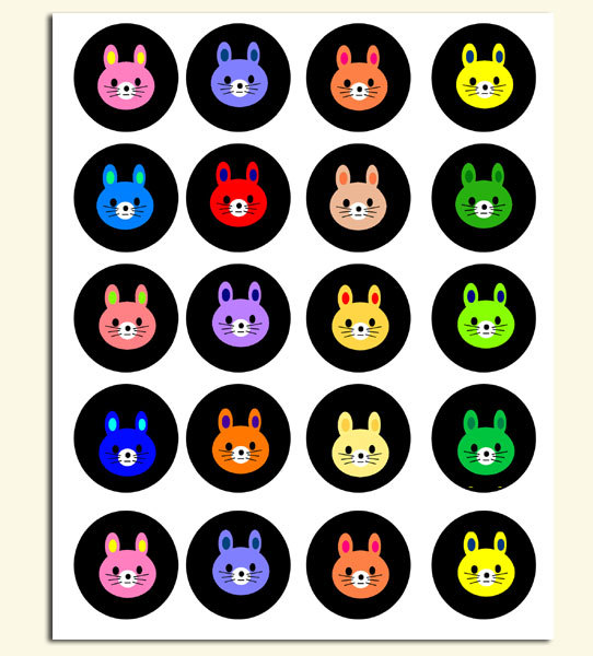 Bear or Rabbit Stickers to Print