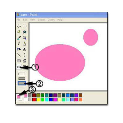 Draw a bear and mouse in ms paint image 1 for How do you draw a mouse