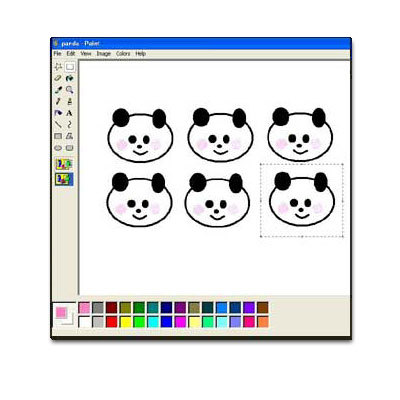 Draw a Panda in MS Paint
