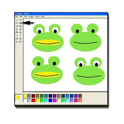 Draw a Frog in MS Paint