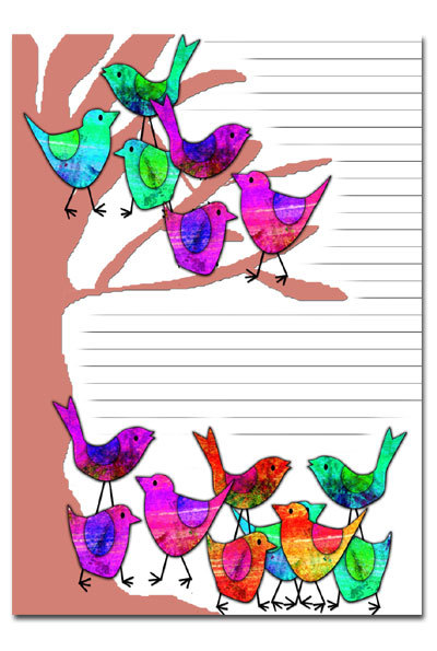 bird poster,bird journal page,bird scrapbooking,lined page,stationery