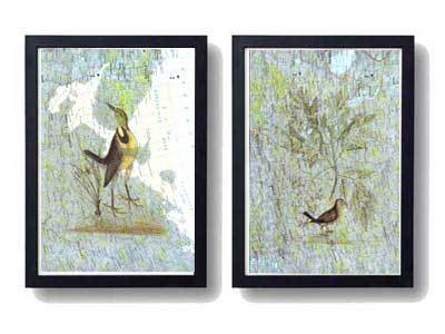 birds,map,clipart,wall art
