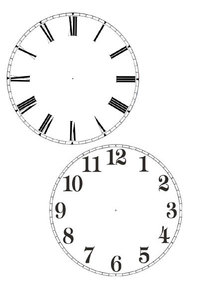 cd clock,printable clock face