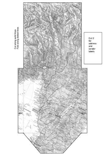 envelope,map