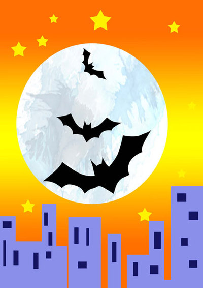 halloween,paper piecing,bat