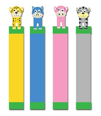 jungle animals,hippo,rhino,cheetah,zebra,animal bookmarks