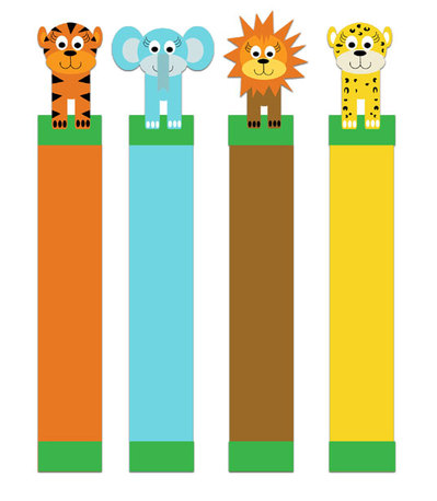 jungle animals,jungle printables,bookmarks