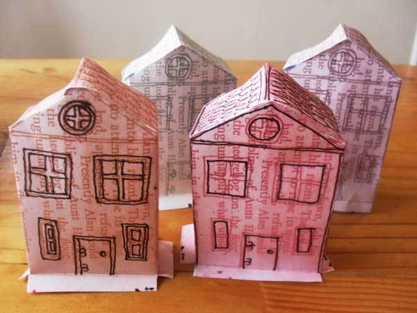 paper house,model,printable house 