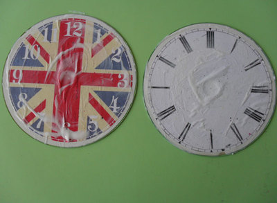 printable clockface, cd clock