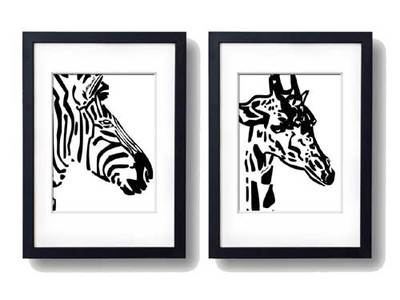giraffe,wall art, wall decor,jungle animals